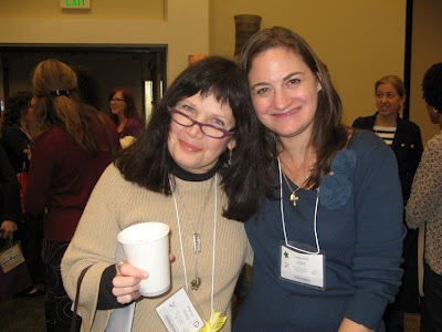 Frances Yansky and Samantha Clark at the Austin SCBWI conference