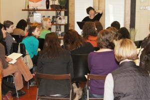 Sara Zarr fields questions at The Writing Barn