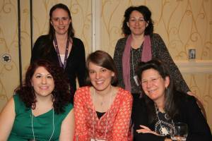 (l. to r.) Editors Laura Whitaker, Madeline Smoot and Sarah Ketchersid and agents Abigail Samoun and Liza Pulitzer Voges
